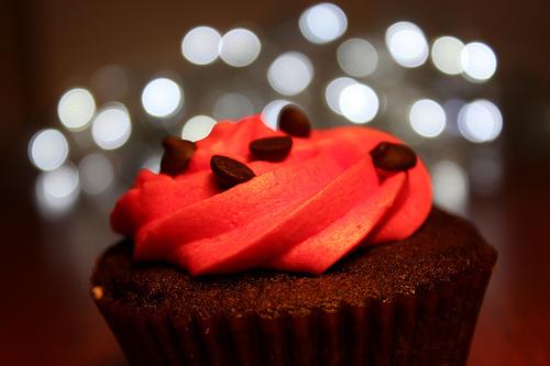 Feuriger Zimt-Cupcake