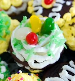 Ostern-Cupcake mit Vanille