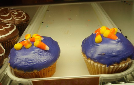 Lavendel-Cupcakes mit Fondant