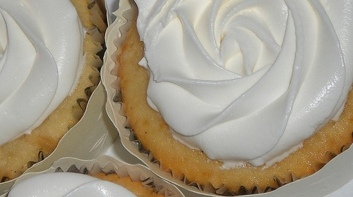 Veganer Vanille-Cupcake