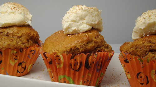Low-Carb-Kürbis-Cupcake