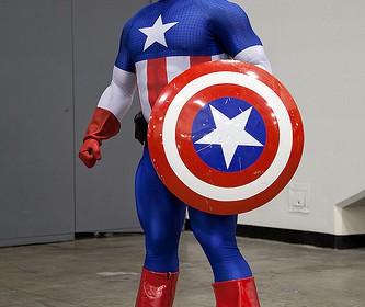 Captain America Cupcake