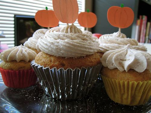 Apfel-Cupcake für den Herbst