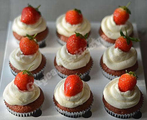 Erdbeer-Honig-Cupcakes